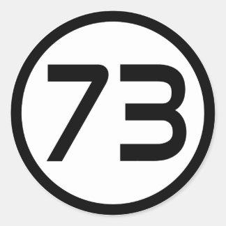 73 PEGATINA REDONDA