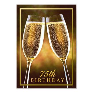 75.a invitación formal del cumpleaños
