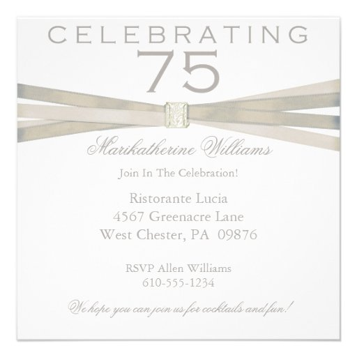 75.as invitaciones elegantes de la fiesta de cumpl comunicados personales