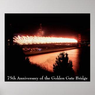 75.o Aniversario de puente Golden Gate Póster