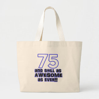 75.o diseño del cumpleaños bolsa de tela grande