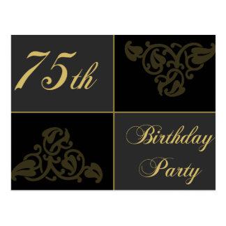 75.o Fuentes de la fiesta de cumpleaños Postal