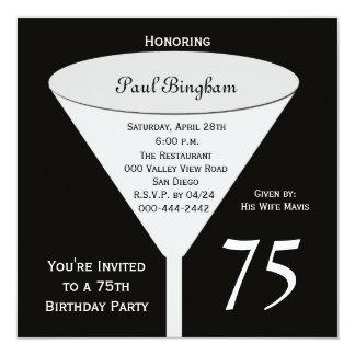 75.o Invitación de la fiesta de cumpleaños -- 75