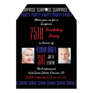 75.o Invitación de la fiesta de cumpleaños de la