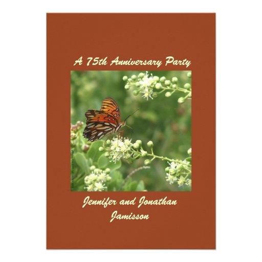 75.o Mariposa de la invitación de la fiesta de ani