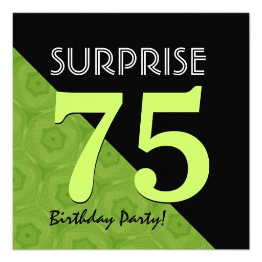 75.o Verde lima del cumpleaños de la sorpresa y V0 Comunicados Personalizados