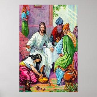 7:36 de Matthew - 50 Jesús perdona los pecados de  Posters