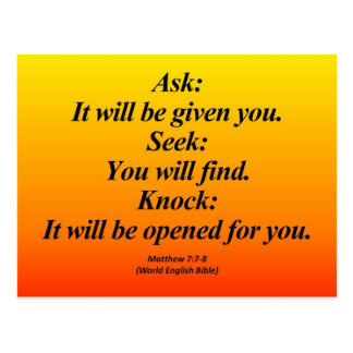 7:7 de Matthew del cumplimiento - 8 Abbrev Postal