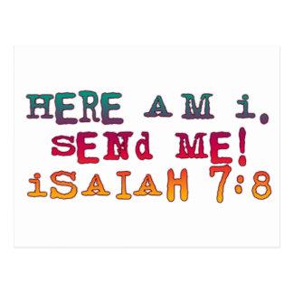 7:8 de Isaías Postal