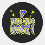 ¡7 años de la roca! Pegatina (del azul)