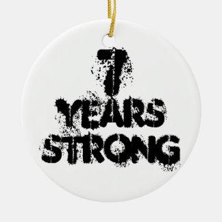 7 años de ornamento fuerte de la recuperación