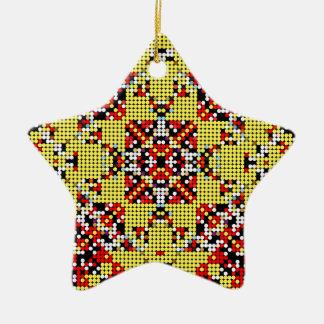 7-Bit 3 Adorno De Cerámica En Forma De Estrella