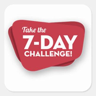 7 day-challenge-logo-1 pegatina cuadrada