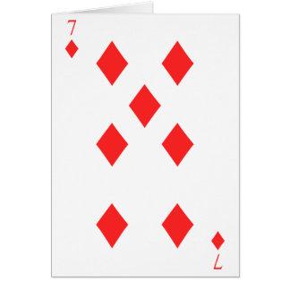 7 de diamantes tarjeta de felicitación