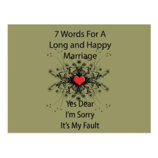 7 palabras para una boda larga postal