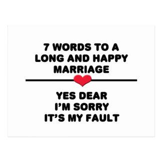 7 palabras para una boda larga y feliz postal