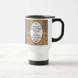 7 palabras para una boda larga y feliz taza térmica