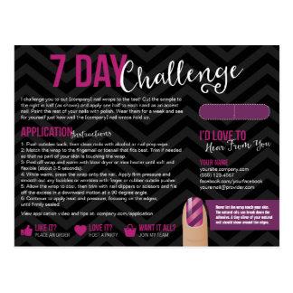 7 postales de la tarjeta de la muestra del desafío