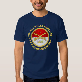7mo Caballería de Michigan (rd) Camisas