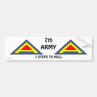 7mo Ejército bs/1 Pegatina Para Coche
