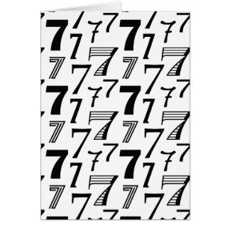 7mo o 70.o modelo feliz del número 7 del tarjeta de felicitación
