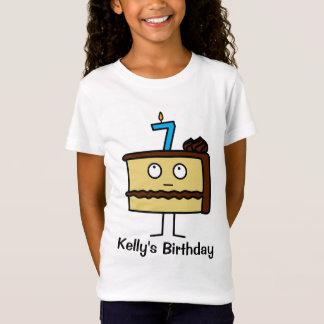7mo Torta de cumpleaños con las velas Camiseta