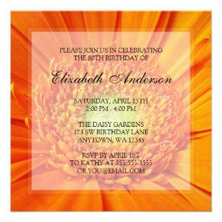 80 a fiesta de cumpleaños de la margarita anaranja invitaciones personales