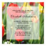 80.a fiesta de cumpleaños de los tulipanes colorid comunicado personalizado