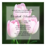 80.a fiesta de cumpleaños de los tulipanes rosados invitacion personalizada