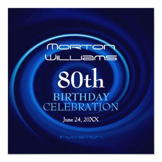 80.a invitación de la celebración del cumpleaños