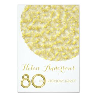 80.a invitación de la fiesta de cumpleaños del invitación 8,9 x 12,7 cm