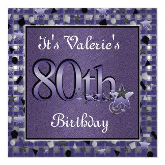 80.a invitación feliz de la fiesta de cumpleaños
