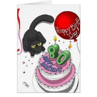 80 a tarjeta de cumpleaños del ónix