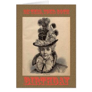 80 a tarjeta de cumpleaños divertida