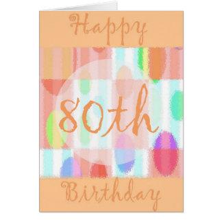 80.a tarjeta de cumpleaños feliz