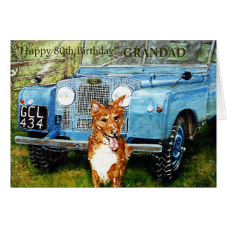 80.a tarjeta de cumpleaños feliz para el GRANDAD