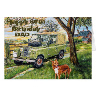 80.a tarjeta de cumpleaños feliz para el papá