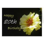 80.a tarjeta de felicitación feliz del cumpleaños