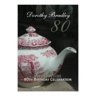 80.a tarjeta de la celebración I del cumpleaños de Invitación 8,9 X 12,7 Cm