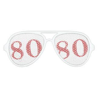 80 años de aniversario gafas de fiesta
