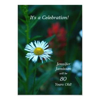 80 años de la fiesta de cumpleaños invitan a la invitación 12,7 x 17,8 cm