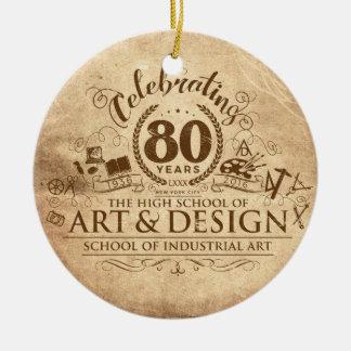 80 años de ornamento de SIA y de A&D Adorno Navideño Redondo De Cerámica