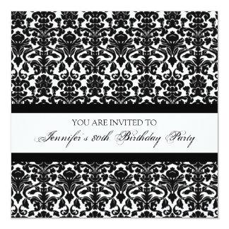 80.as invitaciones de la fiesta de cumpleaños del invitación 13,3 cm x 13,3cm