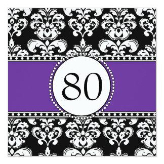 80.as invitaciones del cumpleaños del damasco invitación 13,3 cm x 13,3cm