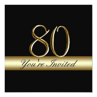 80.as invitaciones del cumpleaños del metal de la invitación 13,3 cm x 13,3cm