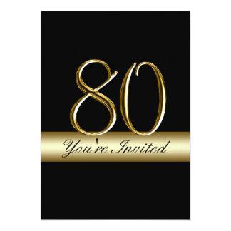 80.as invitaciones del cumpleaños del metal de la invitación 12,7 x 17,8 cm