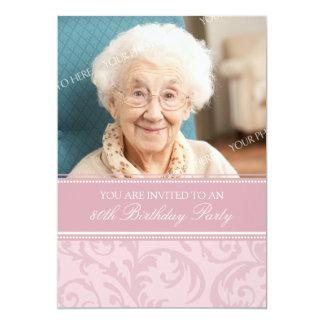 80.as invitaciones florales poner crema rosadas de invitación 12,7 x 17,8 cm