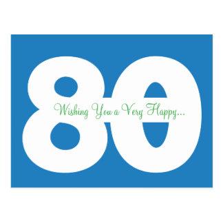 80.as postales felices del jalón del cumpleaños -