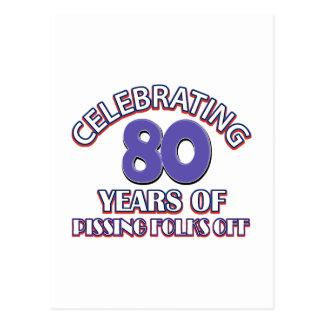 80 diseños del cumpleaños tarjetas postales