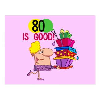 80 es buenos camisetas y regalos del cumpleaños postal
